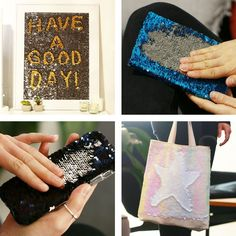 Creative ways to use reversible sequin fabric. creative ways to use reversible sequin fabric cool crafts, diy crafts videos Cute Crafts, Crafts To Do, Arts And Crafts, Nifty Crafts, Ideias Diy, Diy And Crafts Sewing, Craft Wedding, Sequin Fabric, Diy Crafts Videos