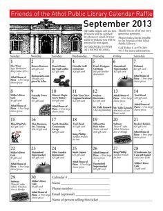school fundraiser cash calendar raffle pto fundraising