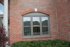 Andersen Terratone windows, brick exterior.