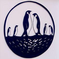 Penguin Papercut Art