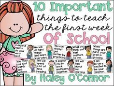 My Silly Firsties: The 10 Most Important Things To Teach During the First Week of School