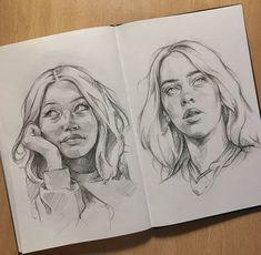 Art Drawings Beautiful, Cool Art Drawings, Beautiful Artwork, Girl Drawing Sketches, Drawing Ideas, Art Academy, Art Challenge, Character Design Inspiration, Aesthetic Art