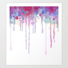 Watercolor Drip Art Print by Abigail Ann - $17.00