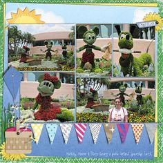 Mickey Minnie & Pluto Topiaries