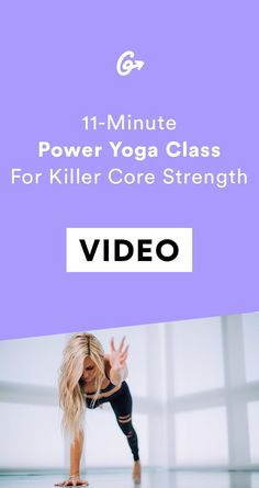 Quick enough for even the busiest of schedules. #greatist https://greatist.com/fitness/abs-workout-power-yoga-core-workout-video