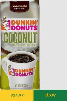 Dunkin' Donuts Ground Coffee Home & Garden Ground Coffee, Coffee Corner, Dunkin Donuts Coffee, Bag Sale, Stand Up, Nutella, Coconut, Drinks, Garden