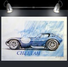 Bill Thomas Cheetah fine art print by Phil Pokorny. Just got mine and it's awesome! Click link to get one and see his other work. Motors, BTM, Chevy, Poster