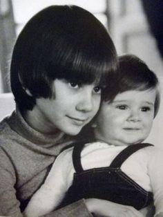 Audrey Hepburn Sons | Sean Ferrer and baby Luca Dotti, sons of Audrey Hepburn in 1970.