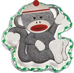 get the monkey cake pan and use our sock monkey