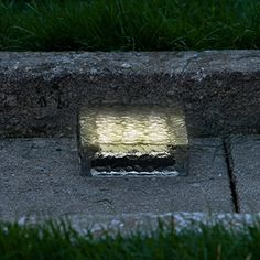 "$29.99 w/free shipping on orders over $49 6"" x 6"" Warm White Frosted Glass Solar Brick Paver Light with 5 LEDs LampLust http://www.amazon.com/dp/B00RTMCLFE/ref=cm_sw_r_pi_dp_NWL3wb0P94E2C"