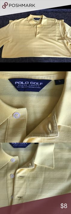 best service 0d9a5 a6b95 Used Ralph Lauren PoloGolf - Polo Yellow Size L Used Early 2000s Ralph  Laure PoloGolf Polo