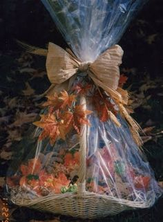 Heres another past fall gift basket decoration where the basket pink martinis and pearls fall decorative cookies part 1 cookie baskets fall gifts negle Image collections