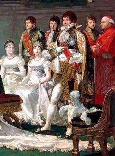 Signature du contrat de mariage du prince Jérôme Bonaparte et de Frédérique-Catherine de Wurtemberg. Jean-Baptiste Regnault, 1810. Detail.