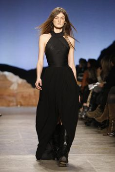 Tough Chick Black Tie at Band of Outsiders RTW Fall 2012
