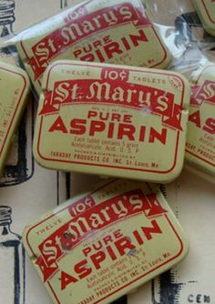 Old Aspirin tins http://www.terbgroup.it #terbgroup                                                                                                                                                     More