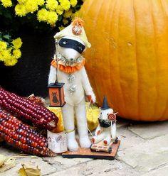 Halloween Bethany Lowe Home from the Parade Bears Vickie Smyers | eBay
