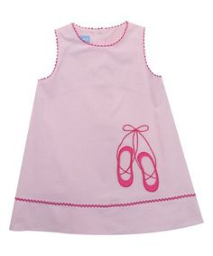Love this Pink Ballet Shoes Gingham Shift Dress - Infant, Toddler & Girls on #zulily! #zulilyfinds
