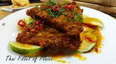 Fillet of Plaice with a Thai Crumb Grilled Fish, Grilled Salmon, Plaice, Fatty Fish, Fish Dishes, Meatloaf, Meal Planning, Roast, Beef