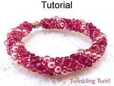 Twinkling Twirl PDF Beading Pattern  This fun beading pattern will easily teach you how to make a stunning Russian spiral stitch necklace or bracelet! With great step by step directions and over 45 high resolution, full color, close up pictures, you will be able to create absolutely dazzling beaded jewelry! Youll be in awe after making your first piece! It would be helpful if you have some experience stitching with beads, but dont be afraid to tackle this project if you dont – the steps are…