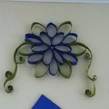 Resultado de imagem para flores de tubito del papel del baño