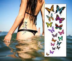 Cascading Butterflies Tattoo. Price £3.00 inc. VAT.