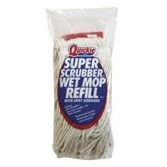 Quickie 0251 Super Scrubber Cotton Wet Mop Refill