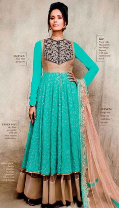 Beautiful anarkali suit for Indian weddings or reception by Brijraj