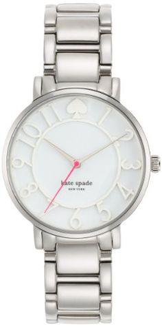 kate spade new york Women's 1YRU0392 Gramercy Analog Display Japanese Quartz Silver Watch kate spade new york