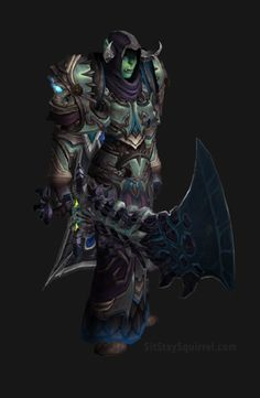 Unholy Death Knight Apocalypse Transmog Set - Herald of Pestilence Skin with Blue Tint Transmog. WoW Legion.