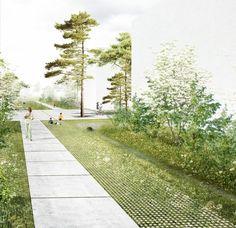 Récolte des eaux en milieu urbain \\ nature résilience.  Super beautiful image