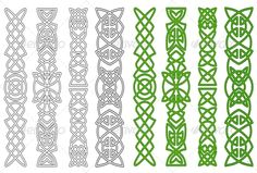 Celtic ornaments and elements #GraphicRiver Green celtic ornaments and elements for medieval embellishments. Editable EPS8 (you can use any vector program) and JPEG (can edit in any graphic editor) files are included