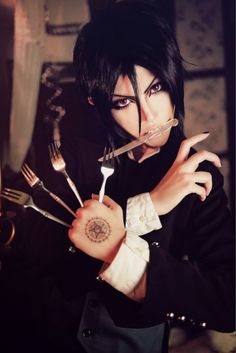 sebastian michaelis from black butler or kuroshitsuji.cosplayer:日月 妖 from taiwan - COSPLAY IS BAEEE!!! Tap the pin now to grab yourself some BAE Cosplay leggings and shirts! From super hero fitness leggings, super hero fitness shirts, and so much more that wil make you say YASSS!!!