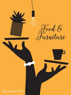 Food & Furniture illustratie ontwerp door: zes&zeventig