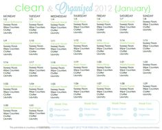 Clean and Organized 2012 January