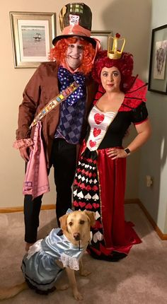 Mad Hatter Queen of Hearts and Alice in Wonderland // Halloween //. Dog CostumesCouple ...  sc 1 st  Pinterest & Curious George the man in the yellow hat and Bananas. Couple ...