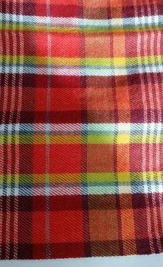 Thomas Pink Multi Check  Wool Blend Square Italy 13x13 NIP $70 #ThomasPink #PocketSquare