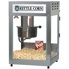 - Kettle Corn Popper This upgrade of the very popular oz. Pop Maxx popcorn machine incorporates the Big Eye Electronic Heat Control. Popcorn Cart, Pop Popcorn, Popcorn Maker, Popcorn Supplies, Movie Theater Popcorn, Corn Pops, Stainless Steel Cabinets, Flavored Popcorn, Kettle Corn