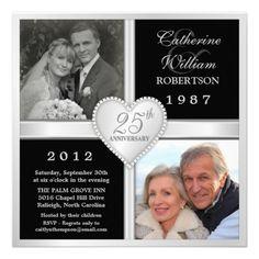 25 Aniversario de boda, foto invitación   -   25th Wedding Anniversary Hearts Photo Invitations http://www.zazzle.com/25th_wedding_anniversary_hearts_photo_invitations-161710323508688308?rf=238669388967474807&tc=cecilia01Pin