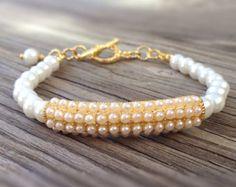 Pink Bracelet Sterling Silver Jewelry Pink by jewelrybycarmal