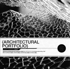 A selection of effective architecture portfolio example covers.