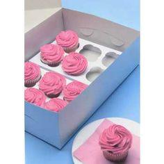 White Cupcake Box Inserts
