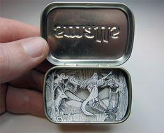 A tiny world inside an Altoid tin :)