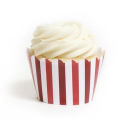 Red Stripes Cupcake Wrappers