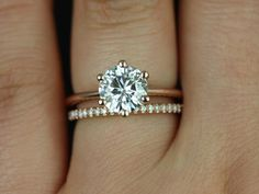 love love love the skinny simple band and diamond wedding band combo