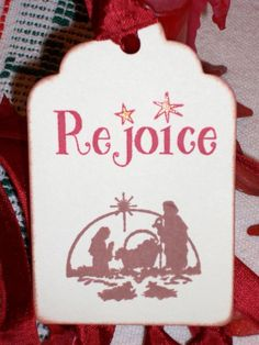 Christmas Tag Idea.  I have the stamp.....