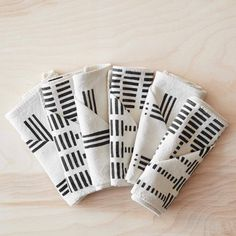 Mudcloth Napkins - Set of 6 | Handwoven with Organic Cotton – The Citizenry