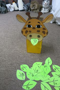 Feeding Gerald the Giraffe:  Students have to give the sound the letter makes to feed him a leaf.  This game helps with phonological awareness.