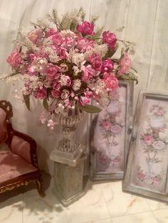Floral dollhouse
