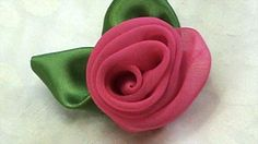 Tutorial How to Make Fabric Flower Vintage Rose and Leaves from scraps, DIY, Variant #3