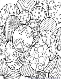 Free Easter Egg Coloring Page From Doodle Art Alley @ Blissful Roots Make your world more colorful with free printable coloring pages from italks. Our free coloring pages for adults and kids. Easter Egg Coloring Pages, Spring Coloring Pages, Coloring Book Pages, Printable Coloring Pages, Coloring Pages For Kids, Kids Coloring, Easter Art, Easter Crafts, Diy Ostern